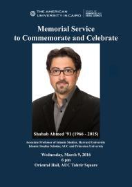 Memorial Service for Shahab Ahmed Memorial Service for Shahab Ahmed