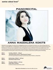 PIANO RECITAL BY ANNA MAGDALENA KOKITS  PIANO RECITAL BY ANNA MAGDALENA KOKITS